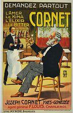Affiche ancienne années 1920 - Demandez un CORNeT -