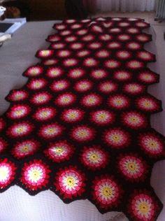Piesera tejida a crochet manualidad