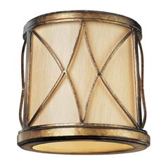 Minka Lighting Gold Cylindrical Lamp Shade with Uno Assembly | SH1962 | Destination Lighting