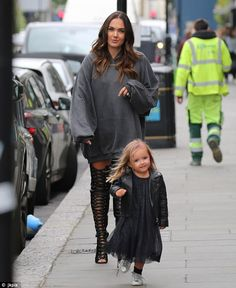 Tress-ed to impress: Tamara Ecclestone was accompanied by her daughter Sophia on Thursday morning as the pair made their way to a hairdressing appointment in London