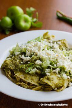 Las enchiladas verdes de la cocina mexicana son exquisitas.
