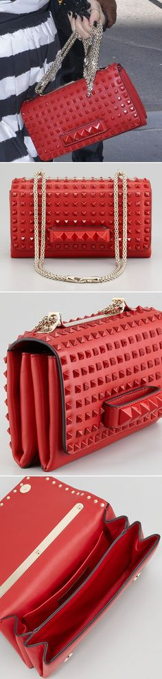 Valentino Rock Stud Chain Flap Bag in Rogue