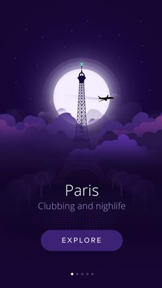 Paris nightlife by Vasjen Katro for Fabric - interior design Module Design, Gfx Design, App Ui Design, Interface Design, User Interface, App Design Inspiration, Mobile Ui Design, Interaction Design, Tattoo App