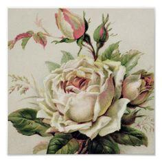 Old Design Shop ~ free digital image: vintage rose postcard (Beauty Design Free Printable) Art Floral, Floral Vintage, Vintage Flowers, Vintage Prints, Clip Art Vintage, Vintage Cards, Vintage Paper, Vintage Postcards, Vintage Pictures