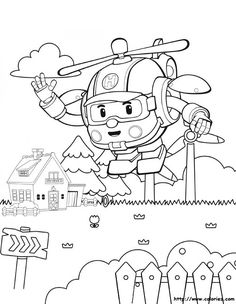 Robocar Poli Coloring Pages to Teach Road Safety for Kids - Coloring Pages Panda Coloring Pages, Colouring Pages, Printable Coloring Pages, Adult Coloring Pages, Coloring Sheets, Coloring Pages For Kids, Coloring Books, Kids Coloring, Baby Drawing