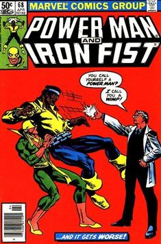 Power Man and Iron Fist # 68 by Frank Miller & Frank Springer Marvel Comic Books, Marvel Characters, Comic Books Art, Marvel Comics, Marvel Art, Comic Art, Book Art, Luke Cage Iron Fist, Power Man