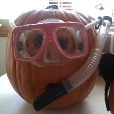 scuba diving pumpkin!
