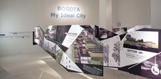 Bogota bottom-up grassroots planning- Interesting display of information- vinyl on suspended boards, interesting angles-- myidealcity
