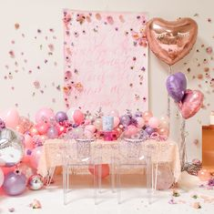 This adorable Galentine's Party (for the little ones!) is about to tug on allll your heart strings Head to the link in our bio to read why decided to throw this fun and beautiful bash for her daughter. Valentines Day Decorations, Valentines Day Party, Birthday Party Decorations, Valentine's Day Quotes, Balloon Centerpieces, Balloon Decorations, Heart Party, Backdrops For Parties, Diy Party
