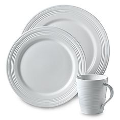Lenox® Tin Can Alley® is simply shaped and contemporary dinnerware for clean simplicity. Pristine white bone china is embossed with textural designs for contrast. Perfect for everyday or more formal occasions.