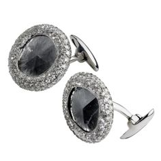 David Morris Slice diamond cuff links