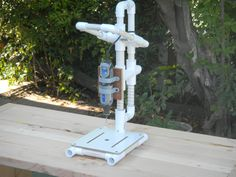 """Pictures of a """"build it yourself"""" PVC Drill Press"""