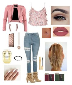 """""""Untitled #23"""" by melanie12g ❤ liked on Polyvore featuring Topshop, Sole Society, Smashbox, Victoria's Secret, Royce Leather, FRACOMINA, Jewel Exclusive, Yves Saint Laurent, Thomas Sabo and CA&LOU"""