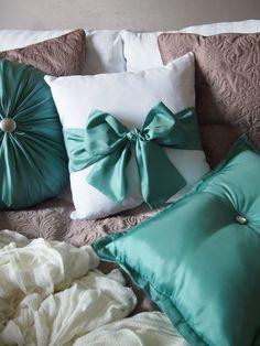 Poduszki od Marideko ze Srebrnej Agrafki #handmade #szycie #sypialnia