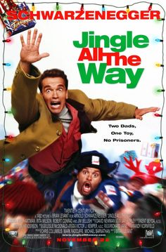 Jingle All the Way is a 1996 American Christmas family comedy film directed by Brian Levant and starring Arnold Schwarzenegger and Sinbad, with Phil Hartman, Rita Wilson, Jake Lloyd, James Belushi and Robert Conrad. Christmas Movies List, Classic Christmas Movies, Christmas Shows, Holiday Movies, Classic Movies, Christmas Characters, Christmas 2014, Funny Christmas, Hd Movies