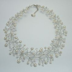 Hand wired bridal necklace  made to order by Nanda on Etsy, $28.00