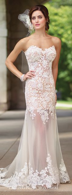 Blush Wedding Dress - Enchanting By Mon Cheri