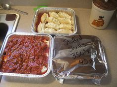 Stuffed Shells: I'll probably just use aldi sauce
