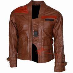 #StarWarsTheForceAwakens #Finn Brown Leather Jacket
