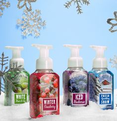 Fresh, snowy Hand Soap for the holidays! #perfectchristmas