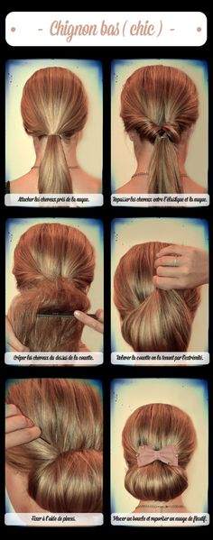 Graceful and beautiful low side bun hairstyle tutorials - Faire un chignon ...