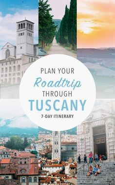A road trip through Tuscany, Italy is a trip full of scenic landscapes you won't soon forget. Travel to Italy for these gorgeous vistas and architecture!  #ItalyVacation
