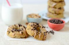 Peanut Butter Chocolate Chip Donuts