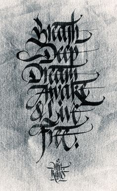 More Calligraphy works. Daily exercises by Kams. by Mister Kams, via Behance