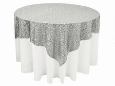 Silver Sequin Tablecloth  Overlay