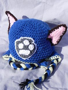 Paw Patrol Hat:Chase and Marshall - free baby-adult crochet pattern by Katarina Page / Completely Loopy Crochet.