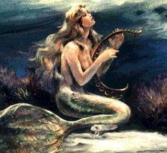 Las sirenas, de la mitología griega son seres fabulosos de narraciones fantásticas de la literatura occidental. Hermosas mujeres con cola de pez en lugar de piernas y con voz musical.