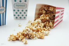 Peanut Butter & White Chocolate Chip Popcorn