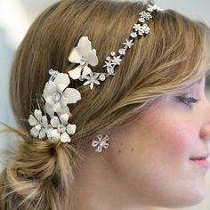 Paris wedding hair accessories Alta Moda Bridal