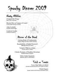 halloween menu template google search halloween ideas