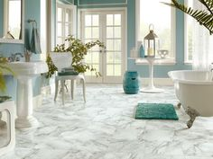 This beautiful marble-look tile is 12 X 12 and comes in many more colors.  www.rileysfurnitureflooring.com
