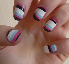 Colorful Print Nail Ideas - Fashion Diva Design