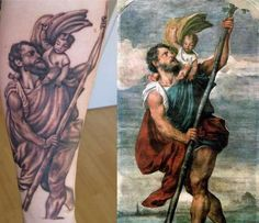amazing st christopher tattoo's - Google Search