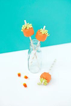 DIY Pumpkin Straws | like-the-cheese.com for Silhouette Blog