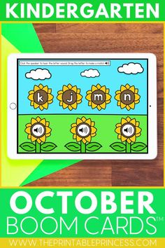 Help your students practice a variety of Kindergarten skills while having fun! This bundle includes 8 FULL math and literacy Boom decks, all with a fall theme that's perfect for October. These digital task cards are great for learning at home or at school. Use them as reinforcement during distance learning or at a technology center in the classroom. Subitizing Activities, Kindergarten Math Activities, Word Work Activities, Counting Activities, Alphabet Activities, First Grade Teachers, First Grade Classroom, Teaching Numbers, Task Cards