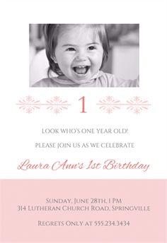 1st Birthday Invitation Templates Photoshop