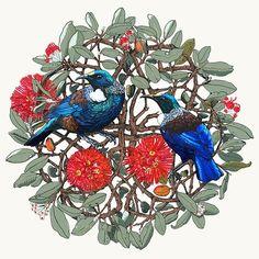 Contemporary artwork painting sculpture jewellery glass fabric pottery woodwork prints The Little Gallery Tairua and Whangamata New Zealand Nz Art, Art For Art Sake, Maori Tattoo Designs, Maori Tattoos, Maori Patterns, Bird Quilt, Kiwiana, Christmas Drawing, Tattoos Gallery
