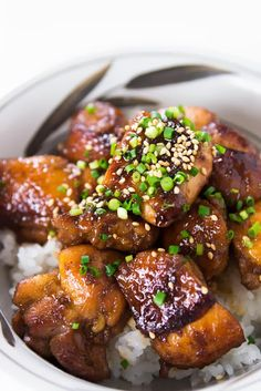 Adobo chicken with ginger. Love this recipe! My grandma made it growing up.