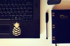 Pineapple Sticker / Vinyl Decal / Laptop Sticker / Car Decal / VNL Company by VNLcompany on Etsy https://www.etsy.com/listing/243643013/pineapple-sticker-vinyl-decal-laptop