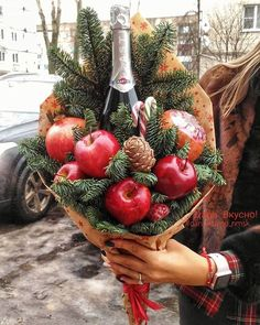 Shared by Carla Christmas Mood, Christmas Wreaths, Christmas Crafts, Christmas Decorations, Christmas Gift Wrapping, Diy Gifts, Holiday Gifts, Food Bouquet, Candy Bouquet