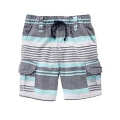 Toddler Boys Teal Stripe Striped Shorts by Gymboree