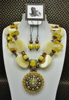 Sunrise Spendor Necklace Set Availabe at BuckarooBay.com Cowgirl Jewlery & Western Accessories