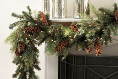 How to Measure For Christmas Wreaths and Garland - Daniel's Lawn & Garden Center - Plants, Landscaping, Hot Tubs and Supplies Christmas Garland On Stairs, Mantle Garland, Christmas Greenery, Hanging Garland, Outdoor Christmas, Christmas Wreaths, Christmas Decorations, Holiday Decor, Merry Christmas