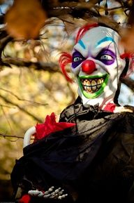another scary clown...