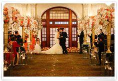 Peach and Pink wedding colors, Wedding in Houston, Crystal Ballroom Wedding, Rice Hotel wedding photography, Crystal Ballroom wedding reception, indoor ceremony, indoor reception