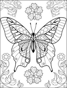 world of butterflies coloring page - Butterfly Coloring Pages